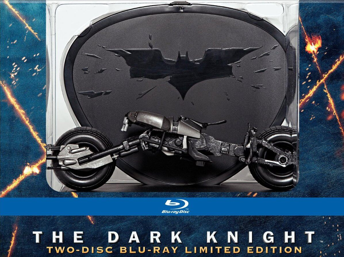 batman the dark knight blu-ray collectors set batpod laser time