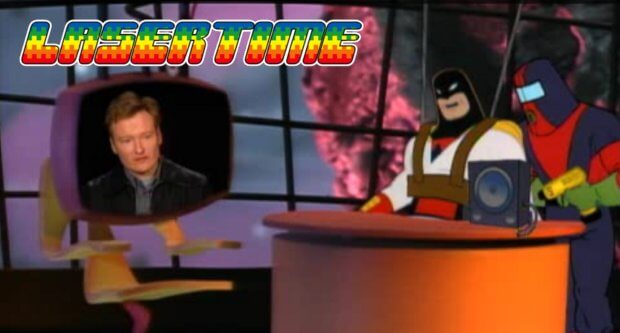 laser time failed talk shows conan space ghost