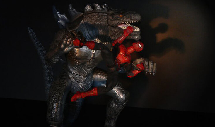 godzilla-spider-man-2014-laser-time