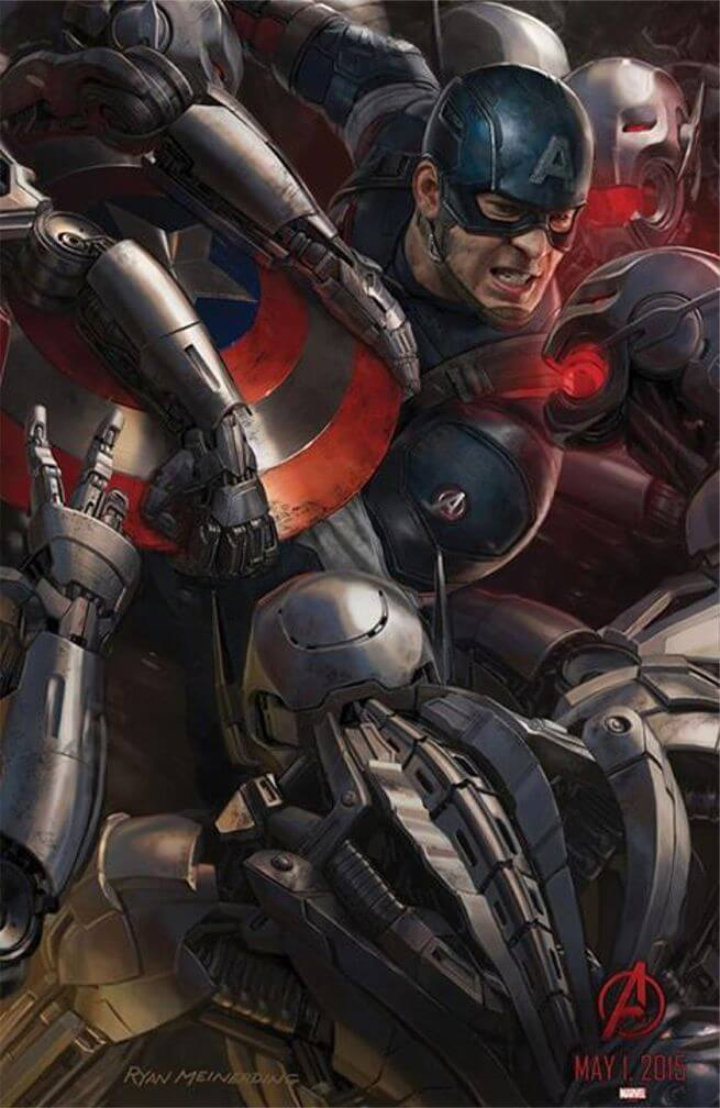 avengers age of ultron captain america comic-con poster laser time 2014