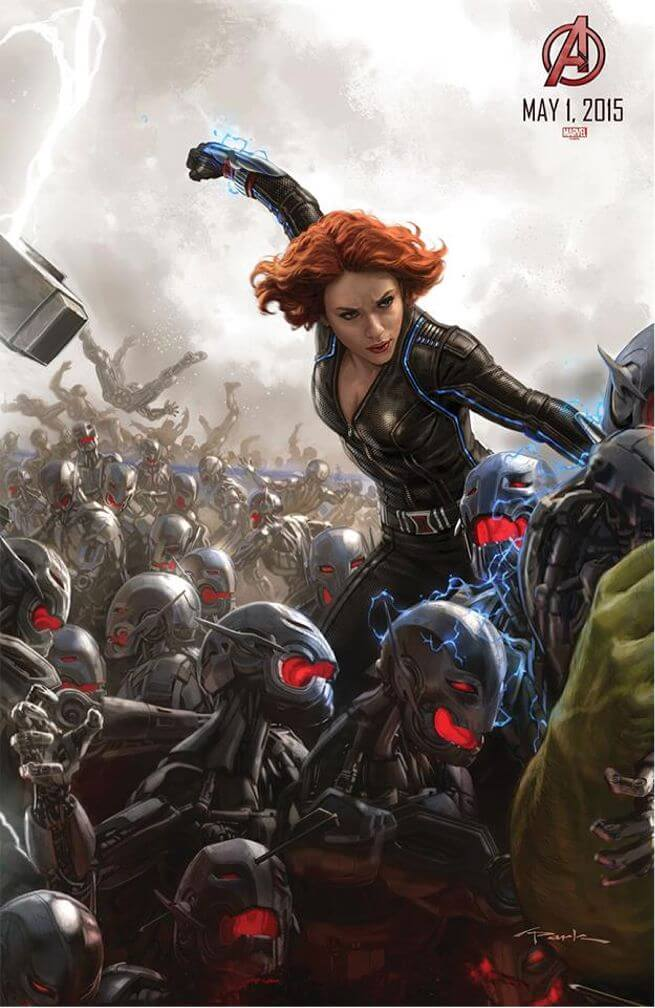 avengers-age-ultron-comic-con-poster-black widow 2014 laser time