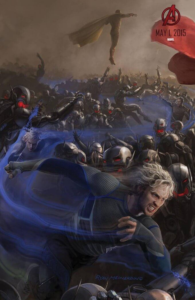 avengers-age-ultron-comic-con-poster-quicksilver 2014 laser time