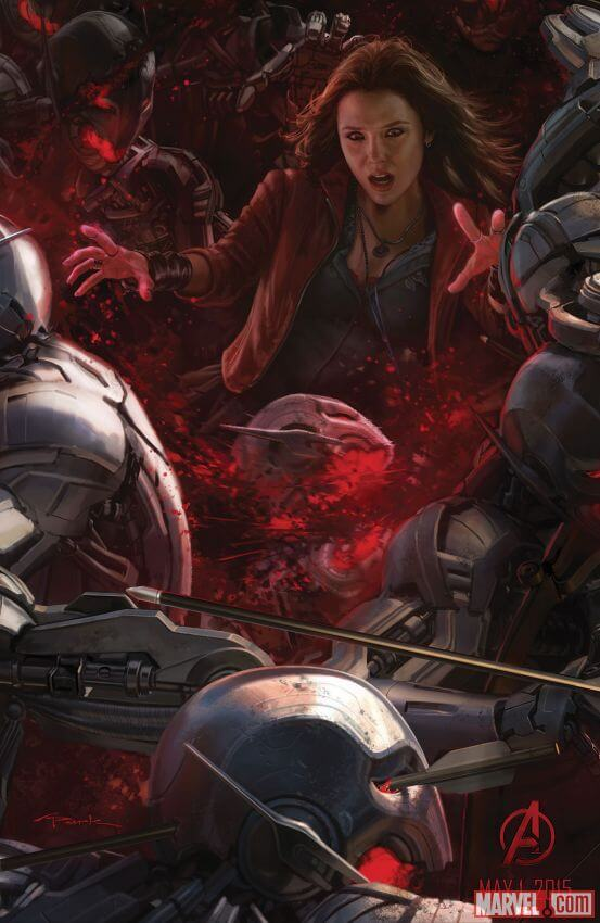 avengers-age-ultron-comic-con-poster-scarlet-witch 2014 laser time