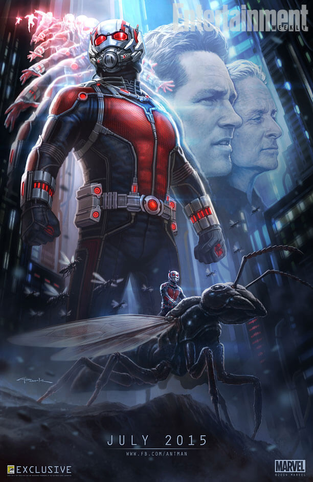 marvel ant man comic con poster laser time 2014