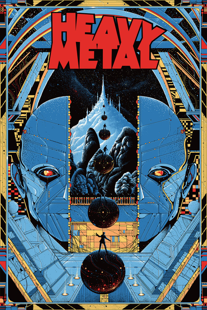 mondo heavy metal poster comic-son laser time