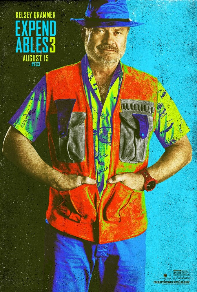 the expendables 3 comic-con poster kelsey grammar