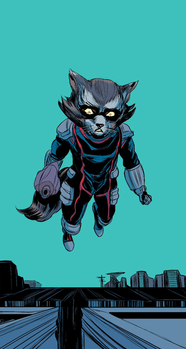 Guardians Of The Galaxy Iphone Wallpaper 9 Rocket Raccoon Laser Time