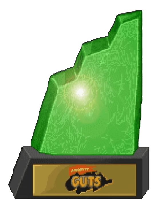 nickelodeon guts game agro crag trophy win laser time