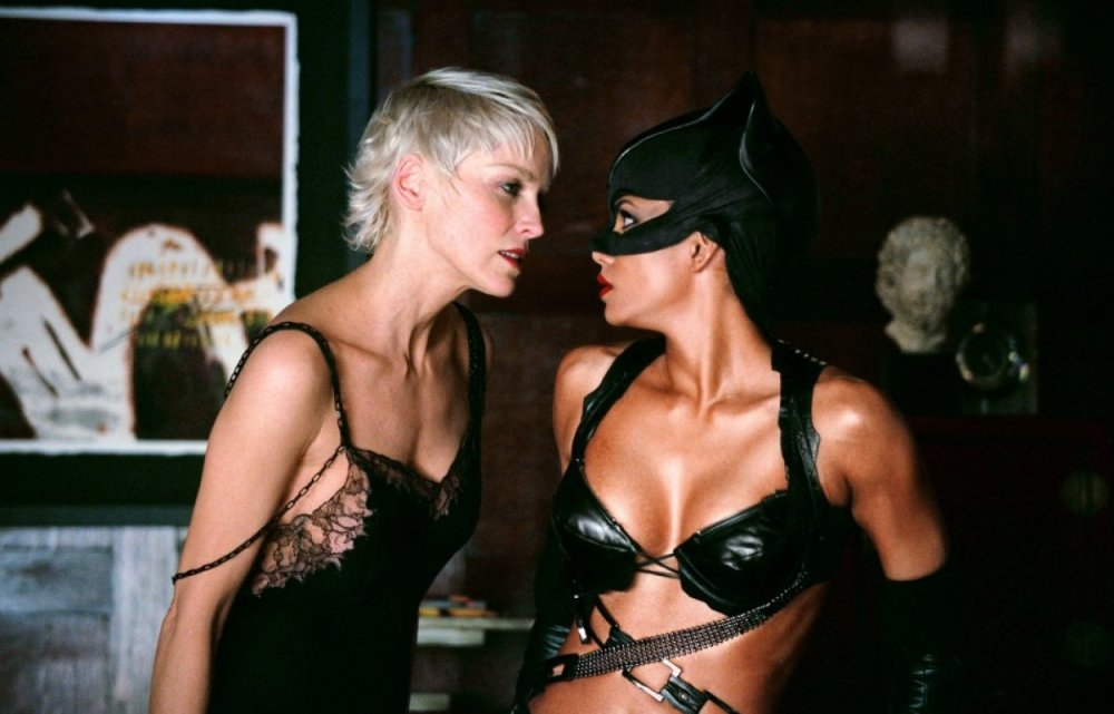 Halle Berry, Sharon Stone catwoman