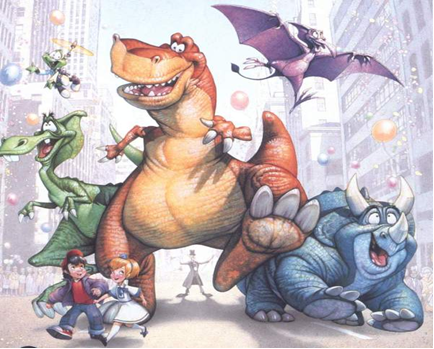 Laser Time, dinosaurs, reboots, jurassic park, we're back, barney, extreme dinosaurs, adventures in dinosaur city, prehysteria