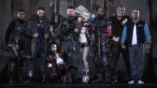 Suicide Squad, cast, Jared Leto, Joker, Margo Robbie, Harley Quinn, Will Smith, Deadshot, cast, lineup, on set, Laser Time
