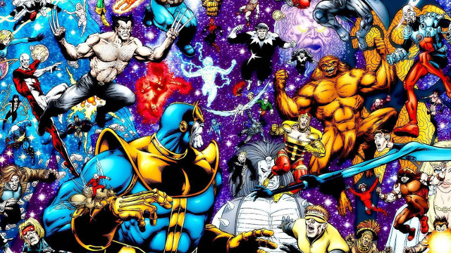 Laser Time, marvel, infinity gauntlet, comic, infinity war, thanos, cyclops, adam warlock, hulk