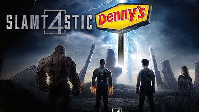 Laser Time, Chris Antista, Dave Rudden, Denny's, failure, Fantastic 4, Fantastic Four, Fox, funny, Henry Gilbert, human torch skillet, invisible woman slam, josh trank, marvel, review, slamtastic four, the thing, the thing burger