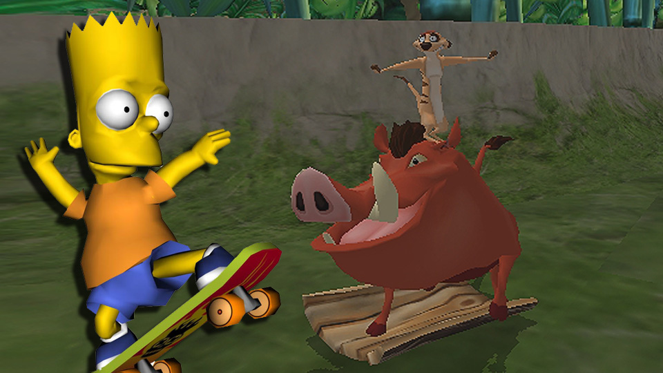 simpsons-skateboarding-shit-show-laser-time