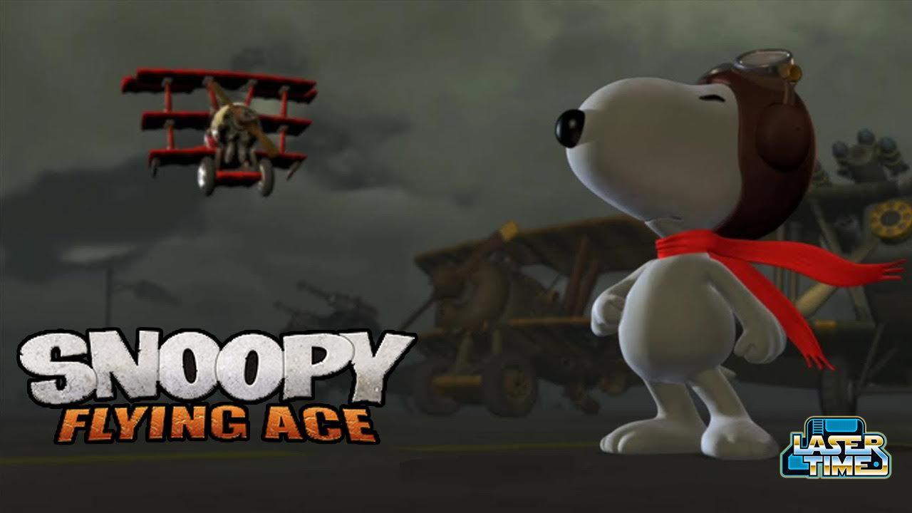 snoopy flying ace laser time