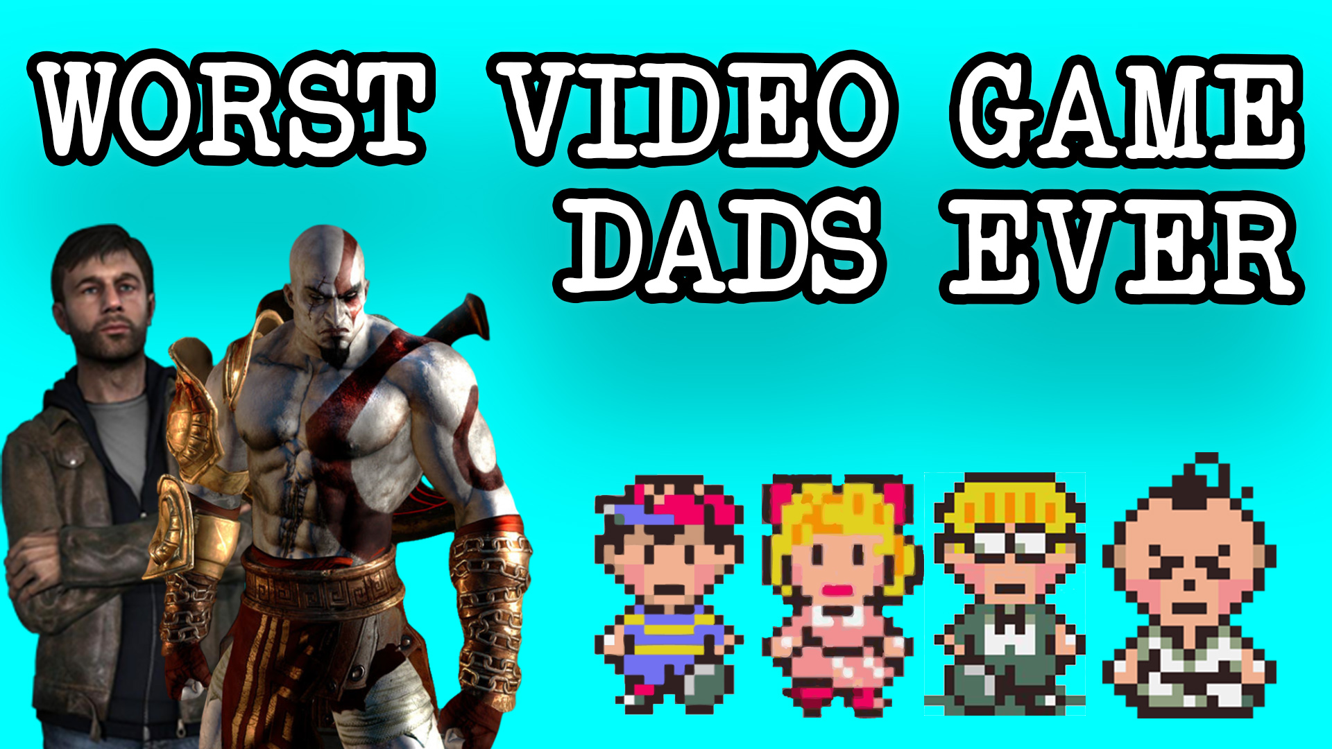 father's day, video games, T Time, worst video game dads, Earthbound, Kratos, God of War, Heavy Rain, Ethan Mars