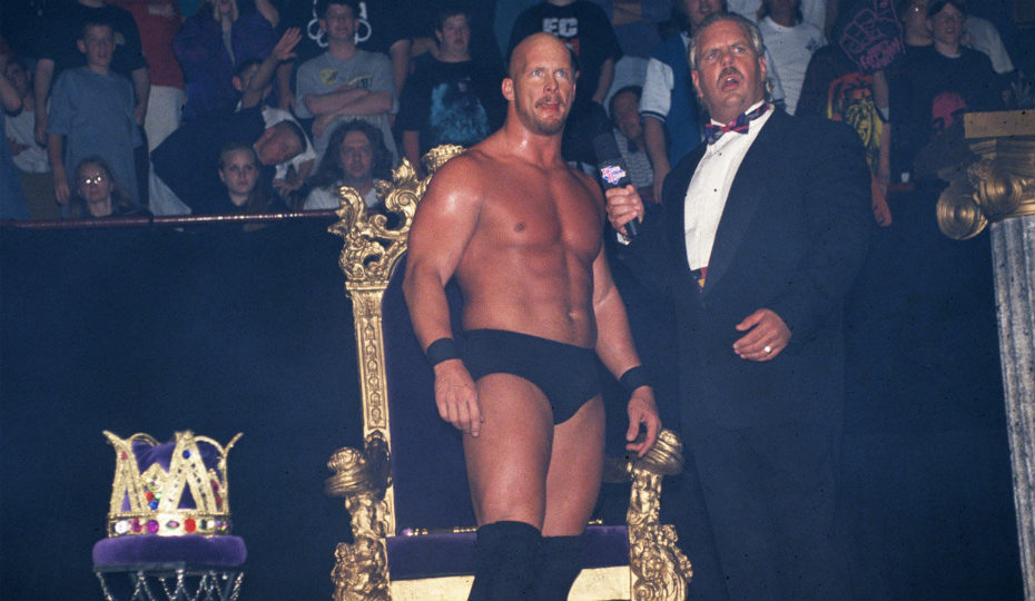 "Pictured: the closest that ""King of the Ring"" Steve Austin came to wearing a crown."