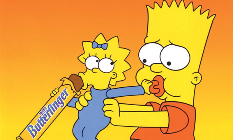 The Simpsons Butterfinger ADS