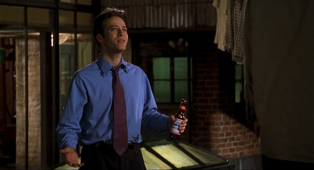 A pre-Daily Show Jon Stewart showing his favorite brew in Big Daddy...