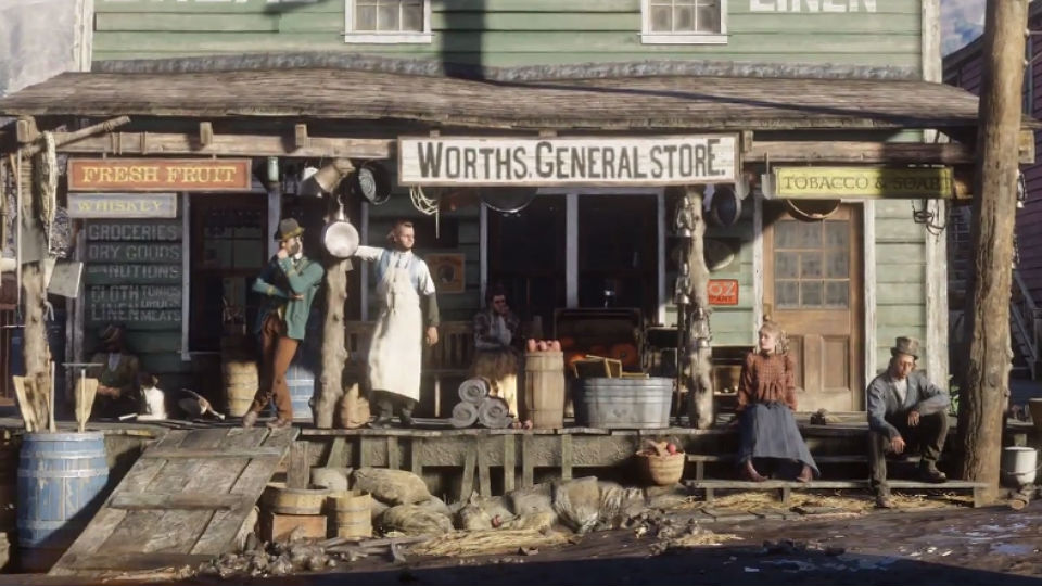 As is the old west equivalent of the shopping mall; the general store.