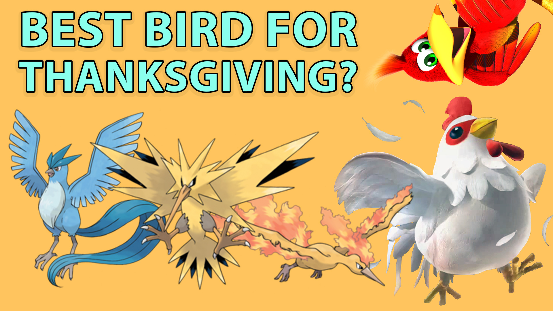 t time, video games, thanksgiving, turkey, pokemon, sun, moon, red, blue, legendary, Moltres, Zapdos, Articuno