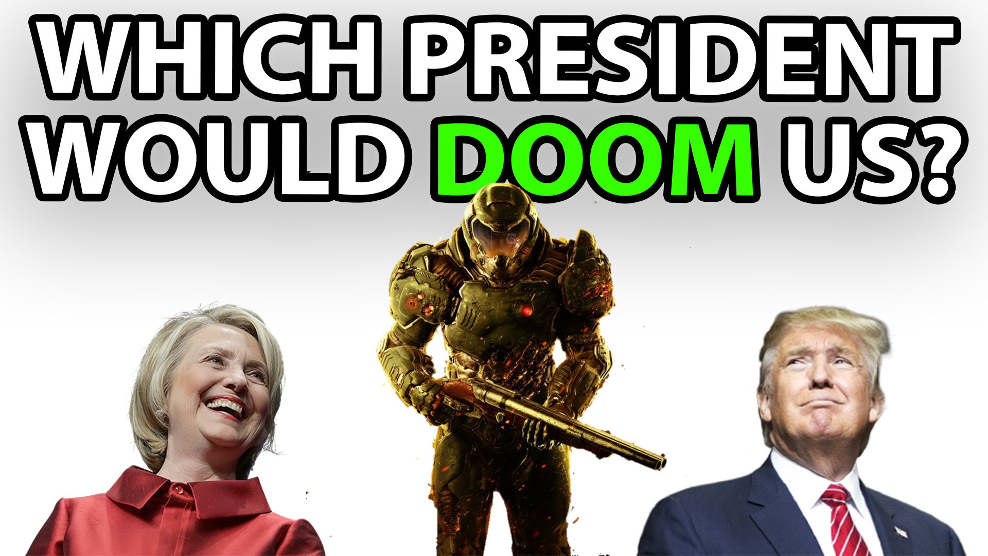 t time, election 2016, president, Hillary Clinton, Donald Trump, Newt Gingrich, Doom, video games